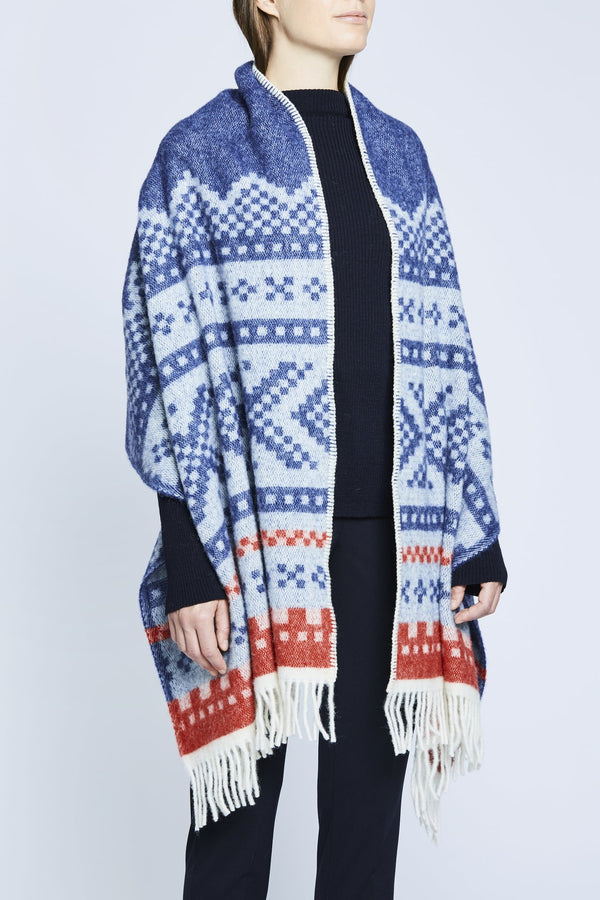 designorway.com - Marius Shawl | blue/red - made in norway