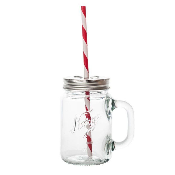 designorway.com - Norgesglasset mug with lid and straw - made in norway
