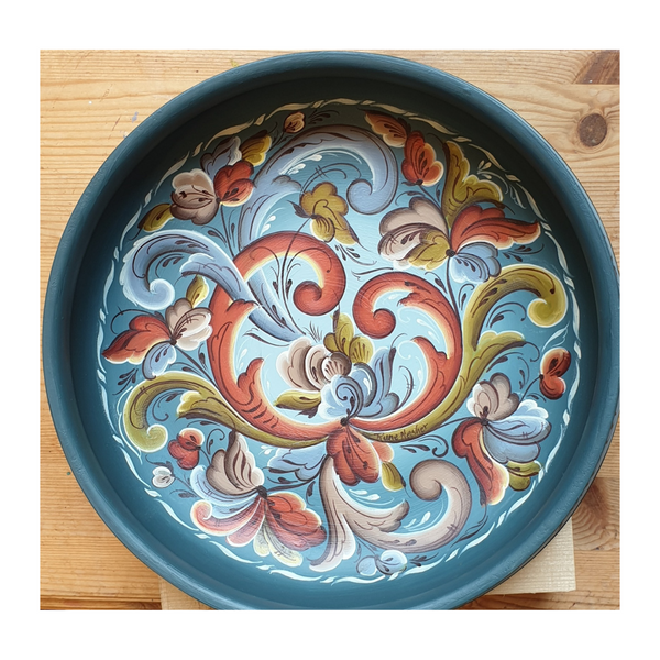 Rosemaling bowl, made in norway, handmade in norway, designorway.com