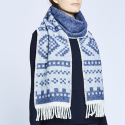 designorway.com - Marius Scarf - Blue - made in norway