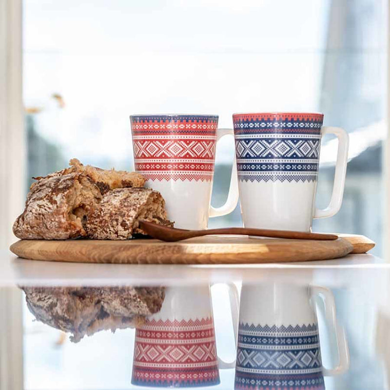 designorway.com - MAUD MUG 2 PACK RED / BLUE Porsgrunds Porselænsfabrikk - made in norway