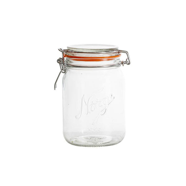 Design in Norway - Norgesglasset Mason Clip Top Jar 0,7L - made in norway