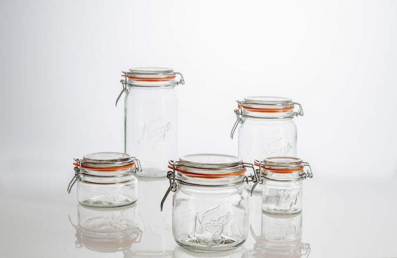 Design in Norway - Norgesglasset Mason Clip Top Jar 0,4L - made in norway