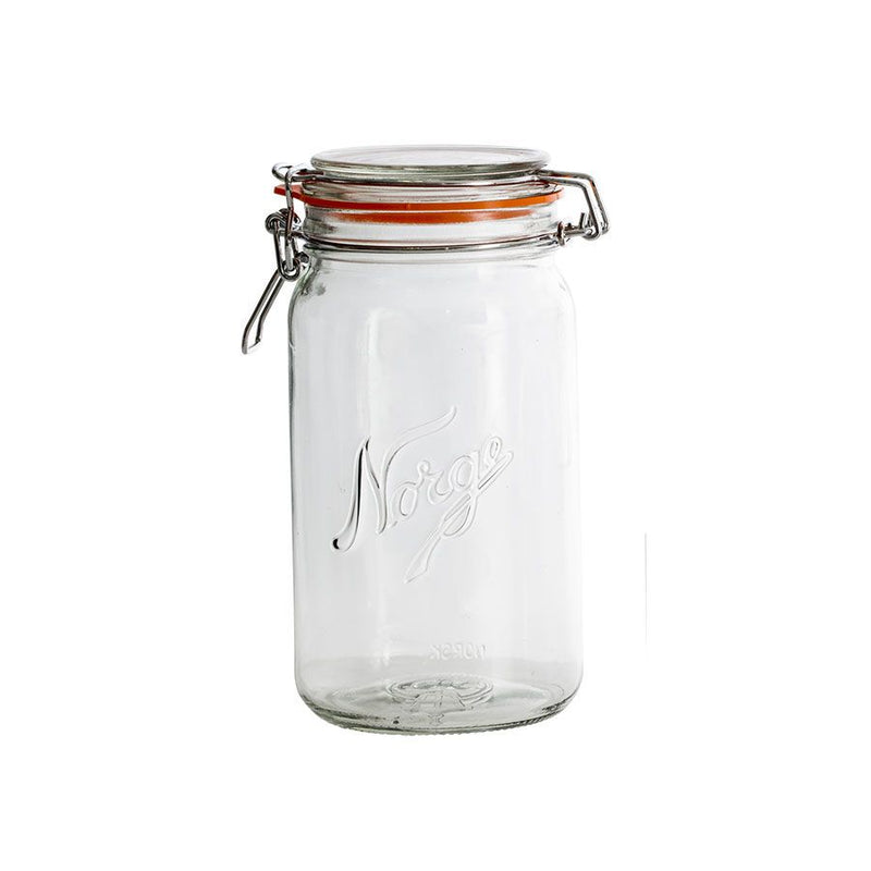 Design in Norway - Norgesglasset Mason Clip Top Jar 1 L - made in norway