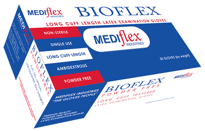 Bioflex Latex Exam Gloves