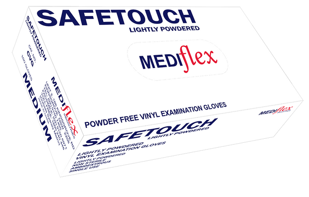 Safetouch Lightly Powdered Examination Vinyl Gloves