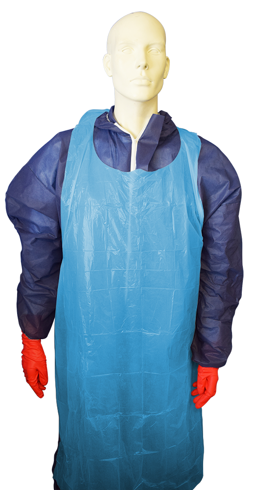 Disposable Blue LDPE Apron - 1450mm