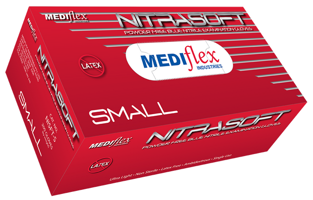 Nitrasoft Powder Free Nitrile Gloves