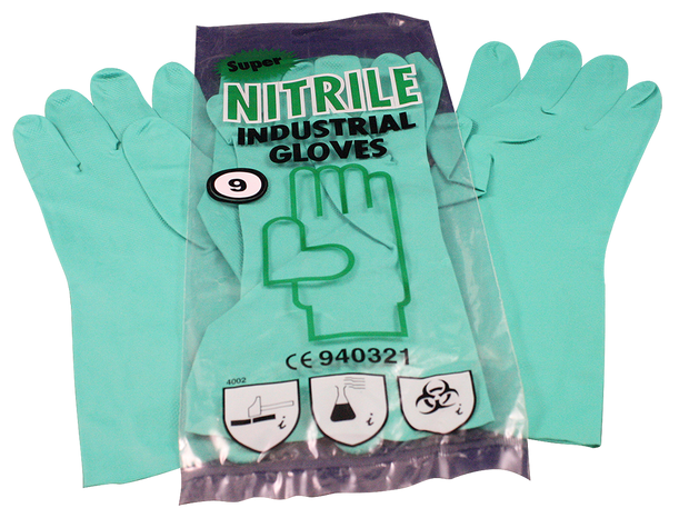 Nitrile Care Flocklined Industrial Gloves