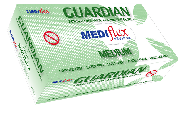 Guardian Powder Free Vinyl Gloves