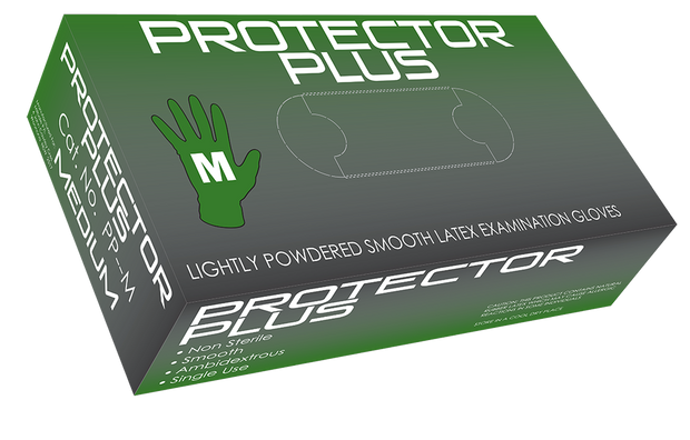 Protector Plus Lightly Powdered Latex Gloves
