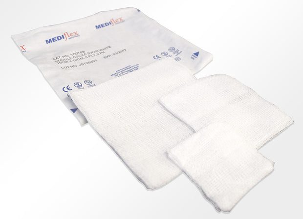 Sterile White Gauze Swabs