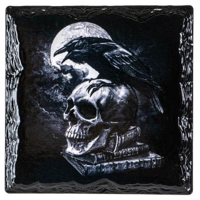 Poe's Raven Slate Coasters - Set of 4