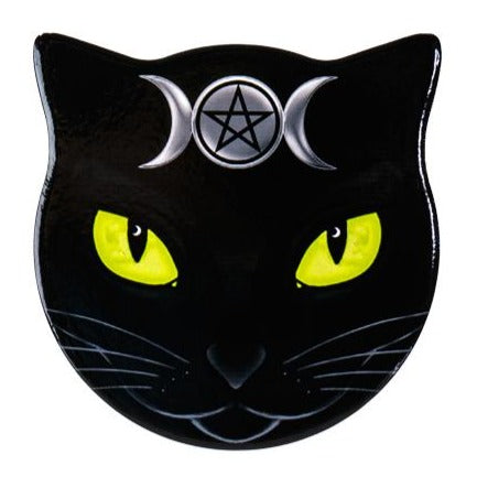 Triple Moon Cat Shapes Slate Coasters - Set of 4