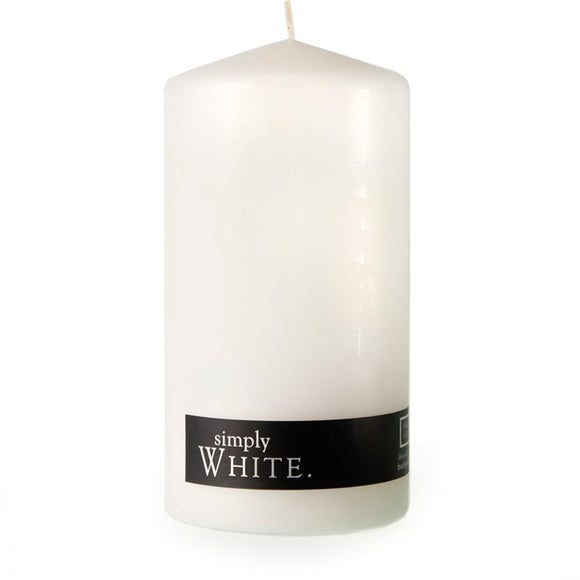 Simply Pillar Candle Large - White