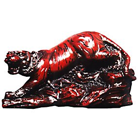 Tiger Statue Rosewood Finish70 x 100mm