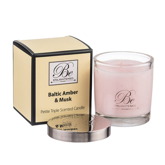 Baltic Amber & Musk Petite - Be Enlightened Candle 100g