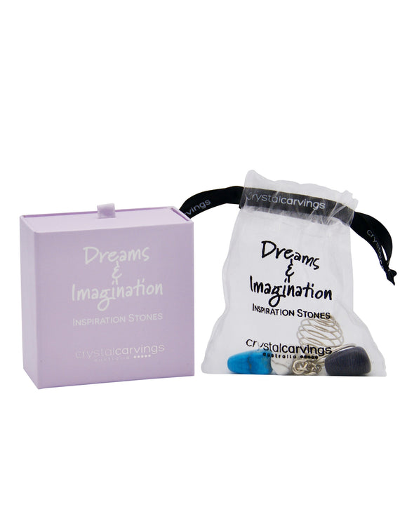 Dreams & Imagination Inspiration Stone Keychain