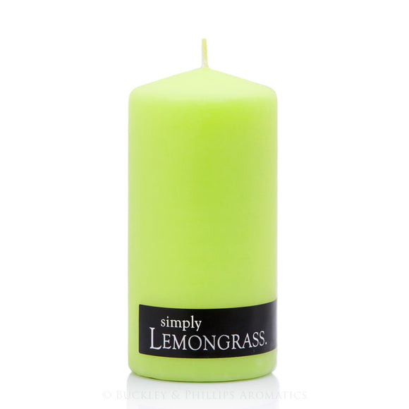 Simply Pillar Candle - Lemongrass