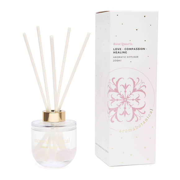 Love - Rose Quartz Crystal Diffuser 200ml