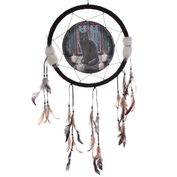 Sacred Circle Cat Dreamcatcher 33cm (Lisa Parker)