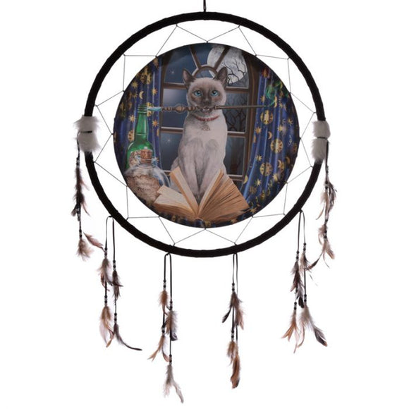 Hocus Pocus Cat Dreamcatcher 60cm (Lisa Parker)