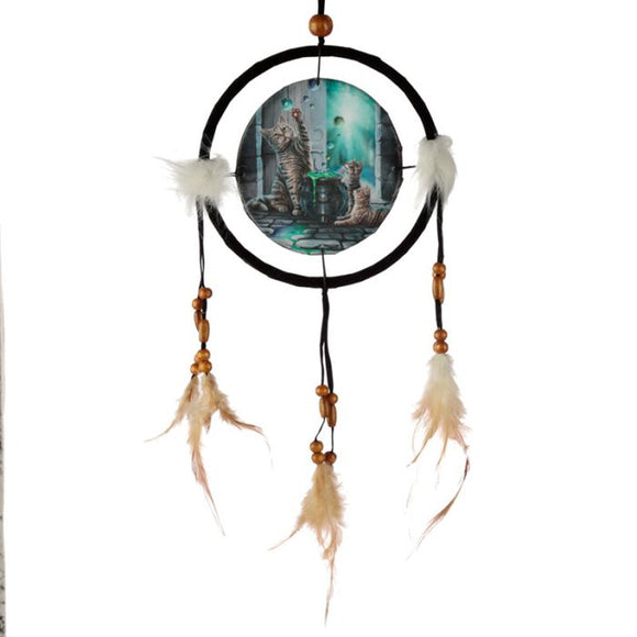 Hubble Bubble Cat & Kitten Dreamcatcher 16cm (Lisa Parker)