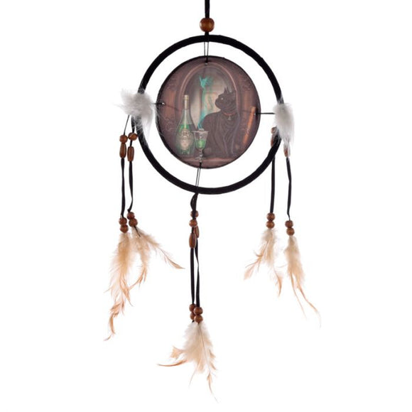 Absinthe Cat Dreamcatcher 16cm (Lisa Parker)