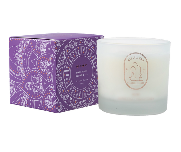GODDESS Black Honey Nectar & Tea 190g Distillery Vegan Soy Candle