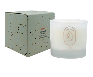 SERENITY Coconut Peach 190g Distillery Vegan Soy Candle