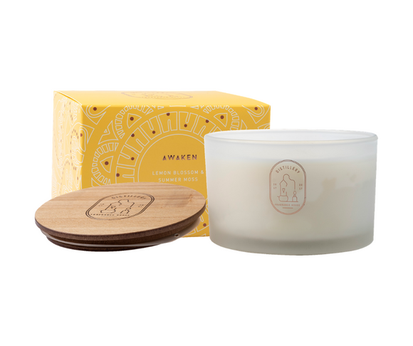 AWAKEN Lemon Blossom & Summer Moss 450g Distillery Vegan Soy Candle