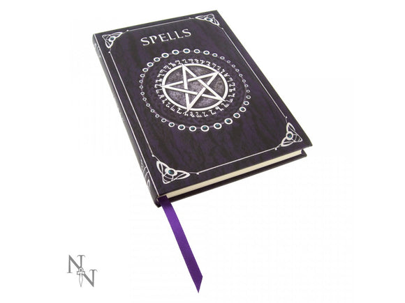 Embossed Spell Book - Purple 17cm