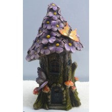 Purple Flower Solar House LED Fairy Garden FV167