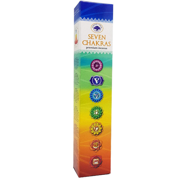 Green Tree Incense Pouch - Seven Chakras