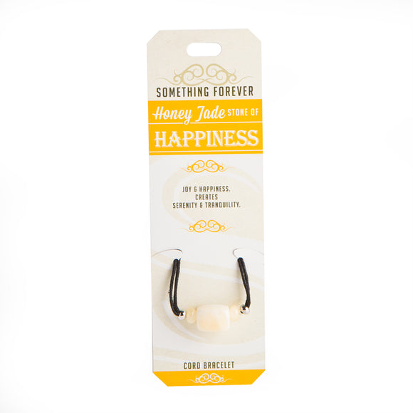 Honey Jade - Happiness - Cord Bracelet