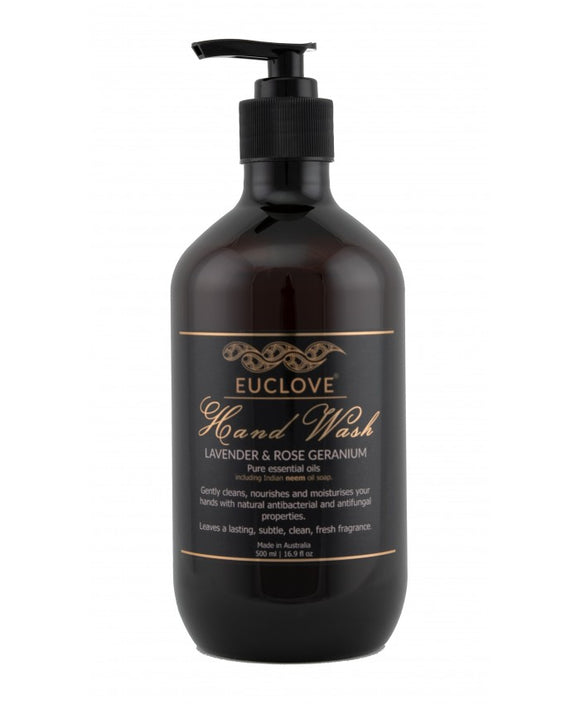 Euclove Hand Wash Lavender and Rose Geranium 500ml