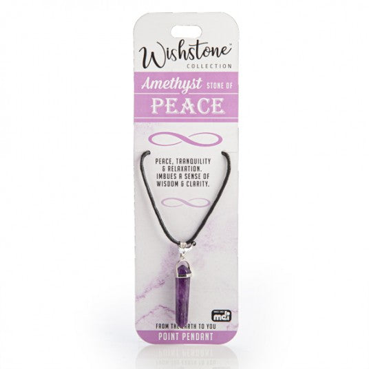 Amethyst - Peace - Point Pendant