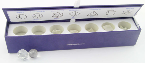 7 Piece Sacred Geometry Kit ~ Clear Quartz