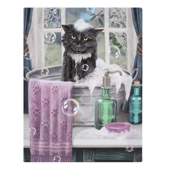 Bath Time Canvas  19x25cm ~ Lisa Parker