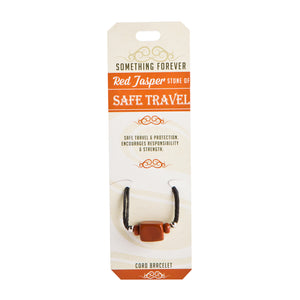 Red Jasper - Safe Travel - Cord Bracelet