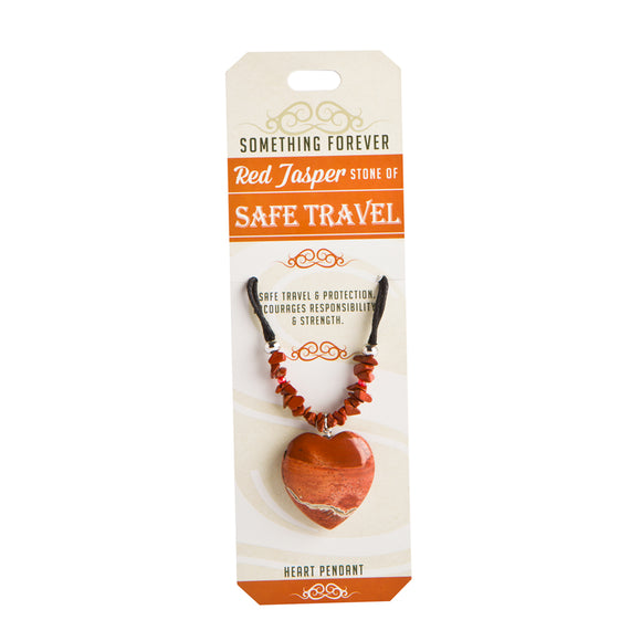 Red Jasper - Safe Travel - Heart Pendant