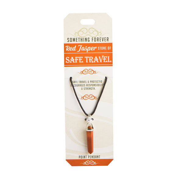 Red Jasper - Safe Travel - Point Pendant