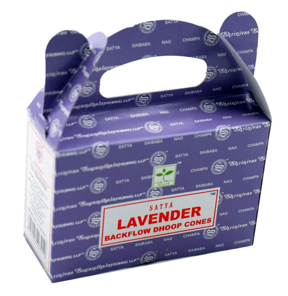 Satya Back Flow Incense Cones - Lavender