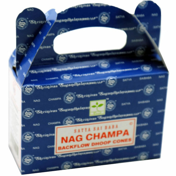 Satya Back Flow Incense Cones - Nag Champa