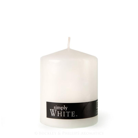 Simply Pillar Candle Medium - White