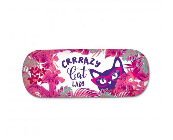 Crazy Cat Lady Glasses Case - Lisa Pollock