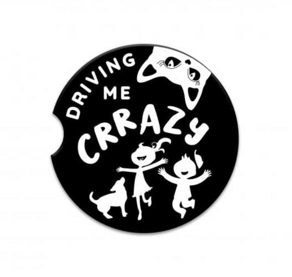 Driving Me Crazy Ceramic Car Coaster