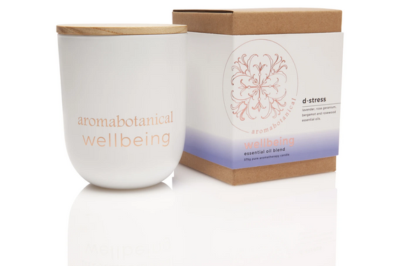D-stress 375g Aromabotanical Wellbeing Essential Oil Soy Candle