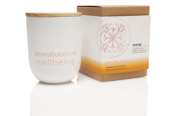 Energy 375g Aromabotanical Wellbeing Essential Oil Soy Candle