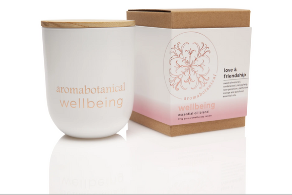 Love & Friendship 375g Aromabotanical Wellbeing Essential Oil Soy Candle